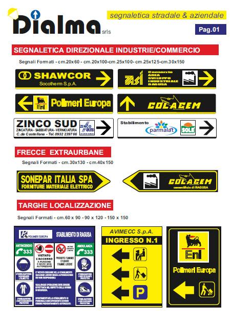 segnaletica direzionale per industria e commercio - segnaletica personalizzata