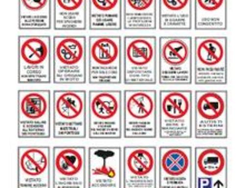 OFFERTA TARGA IN PLASTICA F.TO CM. 30X20 LEGGE 81/2008