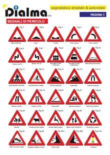 segnali di pericolo - Dialma Segnaletica stradale