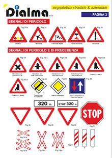 Codice della stada - segnali di pericolo